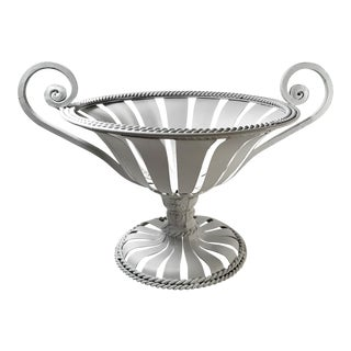 20th Century Neoclassical Metal Urn Basket For Sale