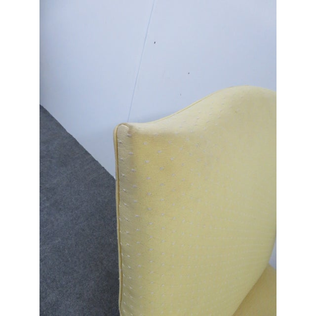 1940s Chippendale Yellow Upholstered Mahogany Library Chair For Sale In Philadelphia - Image 6 of 7
