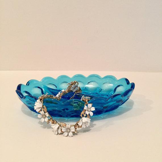 Anchor Hocking Blue Glass Dish - Image 5 of 5