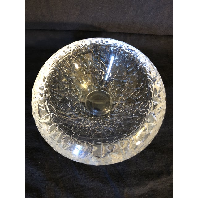 Contemporary 1990s Swedish Glass Bowl by Lars Hellston for Orrefors For Sale - Image 3 of 8