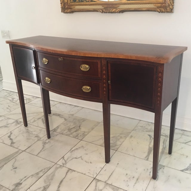 Antique Federal Style Inlaid Sideboard - Image 3 of 11