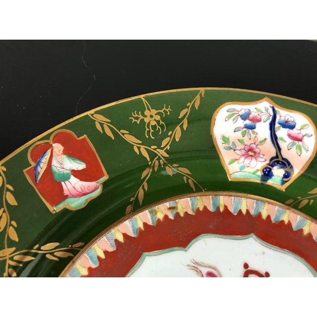 Ceramic Antique Ashworth Mason's Ironstone Imari Plates - A Pair For Sale - Image 7 of 10