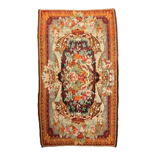 """Antique Bessarabian Kilim Hand-Knotted Wool Area Rug - 6'8"""" X 11'4"""""""