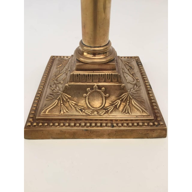 Metal Pair of Brass Candlesticks For Sale - Image 7 of 10