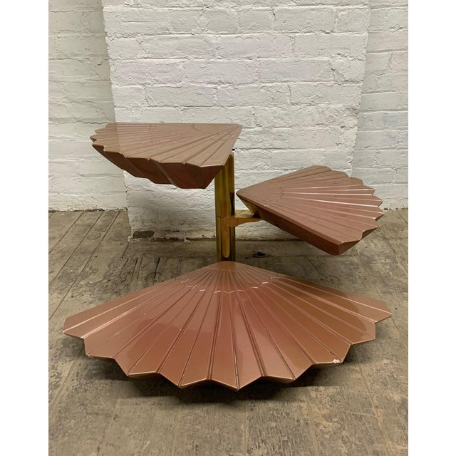 Italian Tiered Occasional Table Style of Gabriella Crespi For Sale - Image 9 of 9