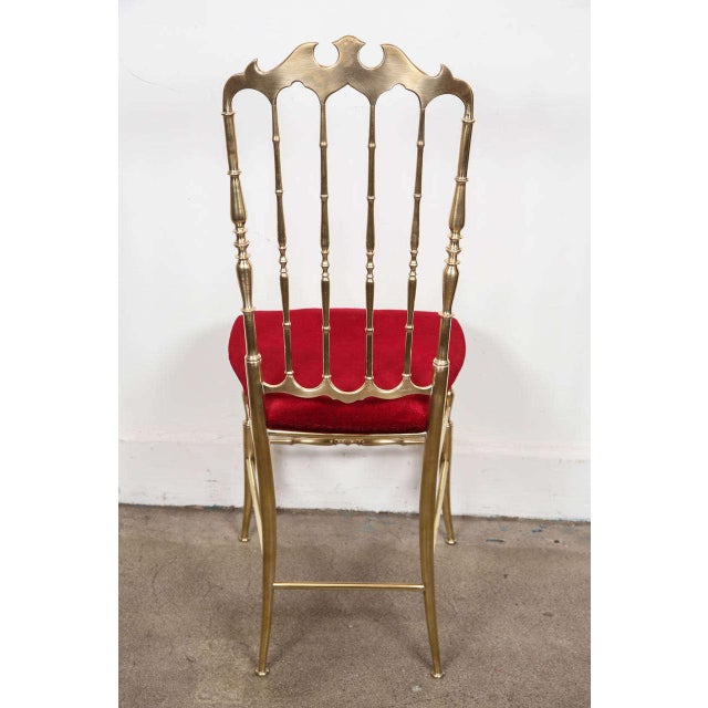 Brass Pair of Brass Chairs by Chiavari Italy For Sale - Image 7 of 11