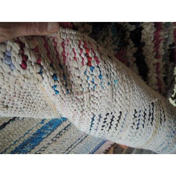 "Vintage Moroccan Boucherouite Rug - 4'3"" x 7'5"" - Image 6 of 6"