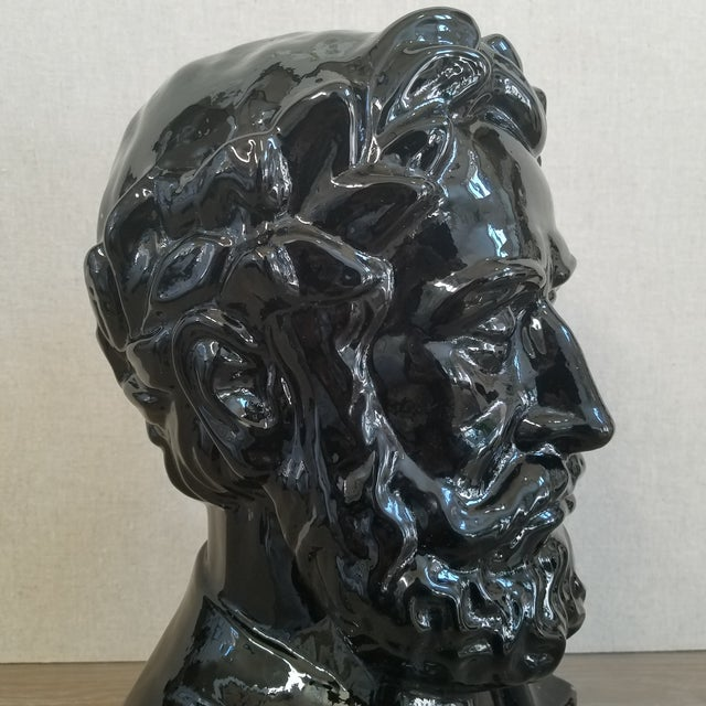 Ingrid Glass Camoes Bust Sculpture For Sale - Image 5 of 10