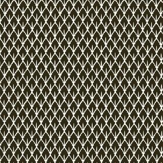 Sample - Schumacher X Martyn Lawrence Bullard Mughal Leaf Wallpaper in Noir For Sale