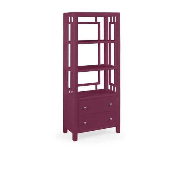Transitional Devon Bookcase, Grape Juice For Sale - Image 3 of 3