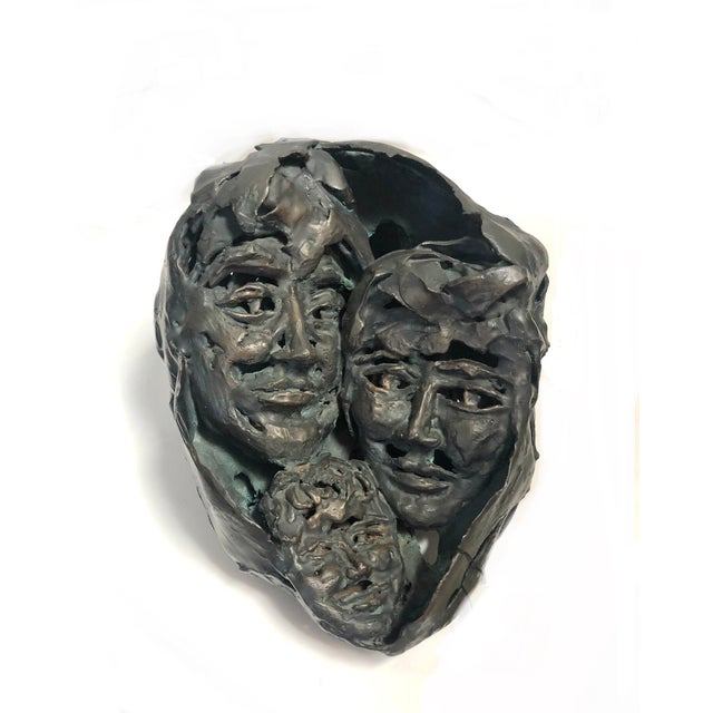 """Metal 1950s """"Family Portrait"""" Brutalist Style Abstract Bronze Sculpture For Sale - Image 7 of 7"""