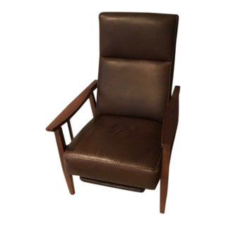 Crate & Barrel Leather Recliner Chair For Sale