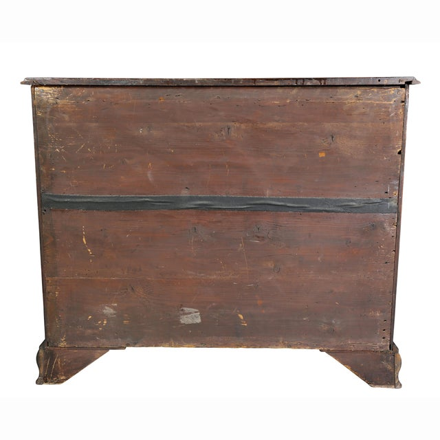 Fine George III Mahogany Serpentine Chest of Drawers For Sale - Image 10 of 11
