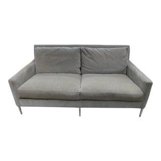 Modern Lee Industries Corduroy Sofa For Sale