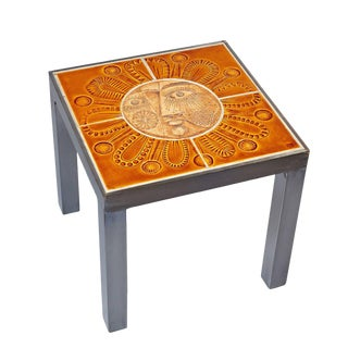 """""""Soleil"""" Table by Roger Capron and Jean Derval For Sale"""