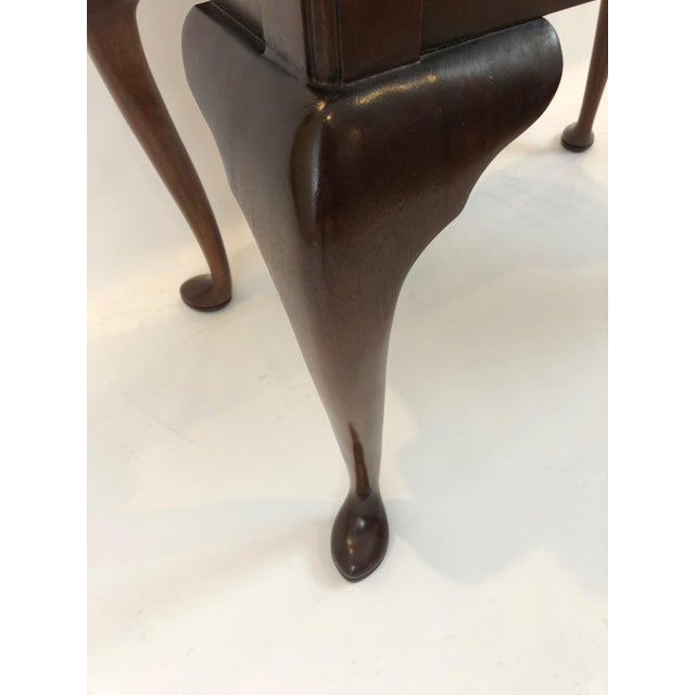 1990s Councill Furniture Flame Mahogany Lowboy For Sale - Image 9 of 11