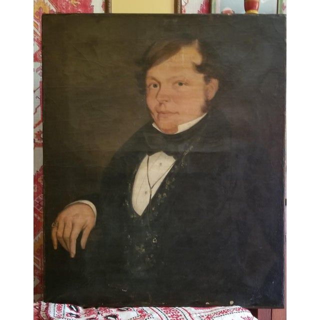 Canvas 19th Century Oil Painting For Sale - Image 7 of 7