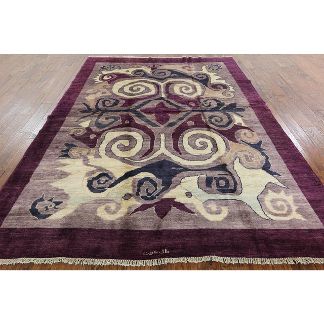 "Modern Signed Kaitag Hand Knotted Rug - 7' 8"" X 9' 10"" - Image 2 of 8"