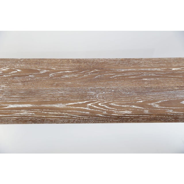 Mid-Century Cerused Oak Console For Sale - Image 12 of 13