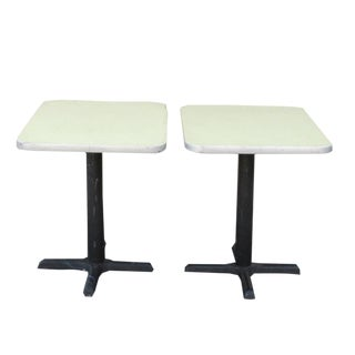 Mid-Century Watson Drug Store Soda Fountain Tables - A Pair