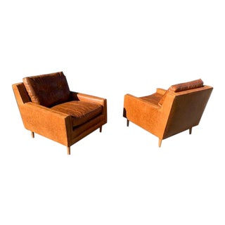 2 Milo Baughman for James Inc Lounge Chairs For Sale
