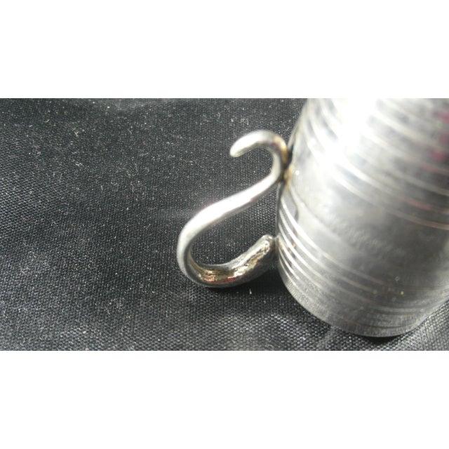 Italian Silver Barrel Shaped Liquor Cup For Sale - Image 4 of 9