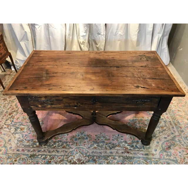 French French Walnut Work Table With Drawers For Sale - Image 3 of 8