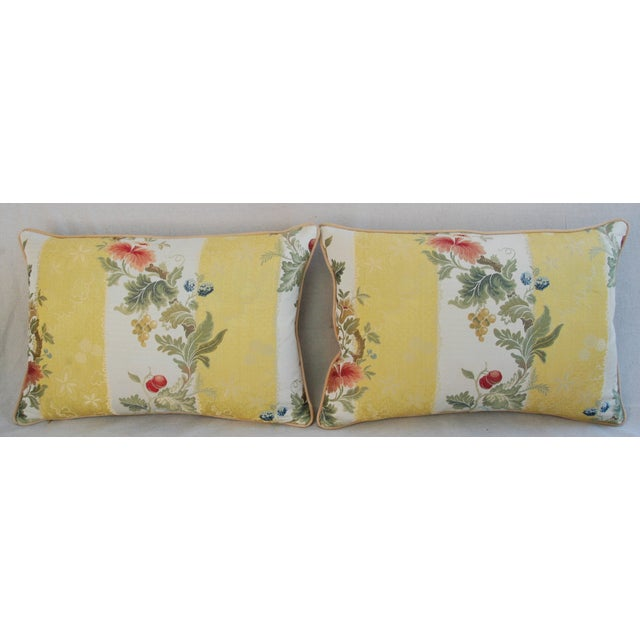 Custom Scalamandre Silk Lampas Pillows - Pair - Image 3 of 11
