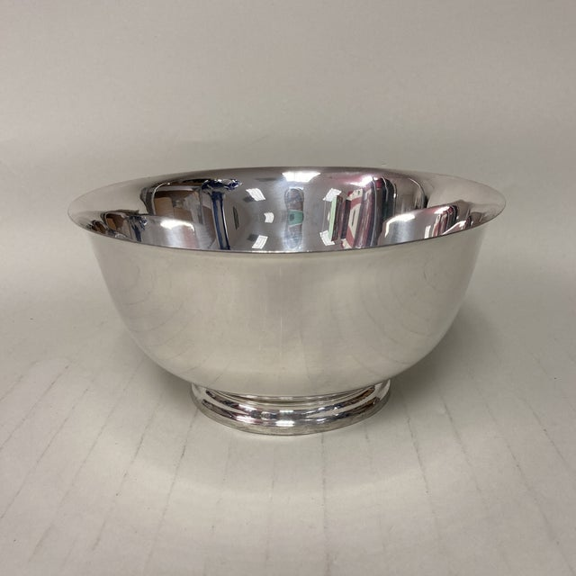 """Mid 20th Century Tiffany & Co. 7"""" Revere Sterling Silver Bowl For Sale - Image 5 of 5"""