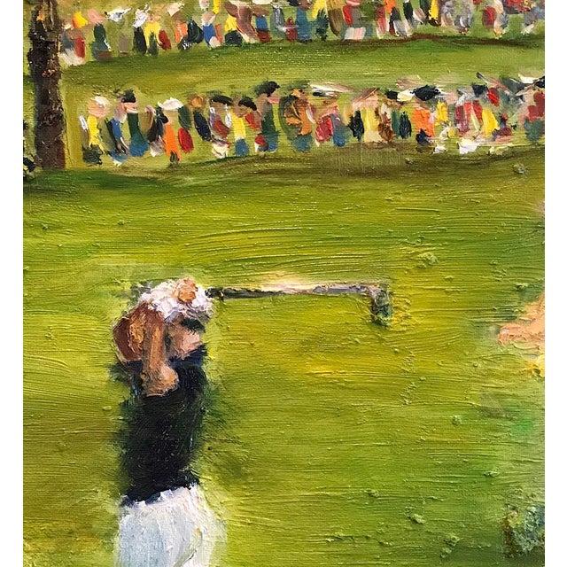 Tiger Woods Pga Golf Original Framed Oil Painting Signed Art For Sale - Image 4 of 10