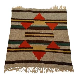 "Vintage Navajo Rug 1' 8"" X 1' 9"" For Sale"