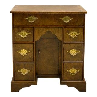 Baker Furniture Burl Walnut Kneehole Desk / Table For Sale