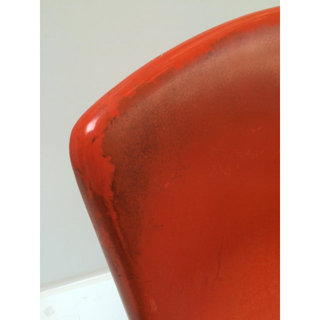 Knoll Bertoia Fiberglass Side Chair Red-Orange - Image 10 of 11