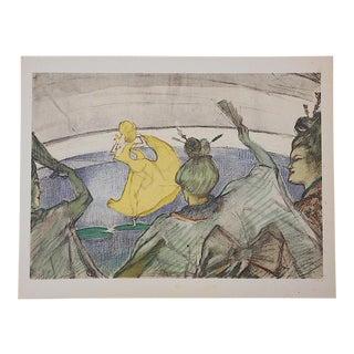 Vintage Mid 20th C. Ltd. Ed. Toulouse Lautrec Lithograph-The Circus-Printed by Mourlot-Paris For Sale