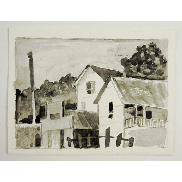 Village Grisaille Watercolor - Image 3 of 3