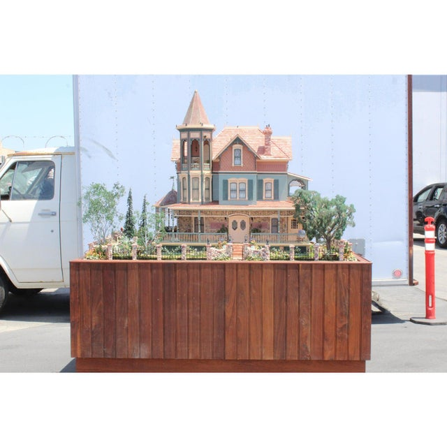 Massive 7 Foot With Case Doll House From the Heritage Museum l.a on S. Calif. Architecture For Sale - Image 11 of 11