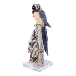 Carved Stone Parrot For Sale