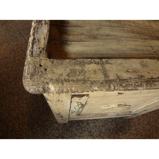 Paint Late 19th Century Rustic French One Door Cabinet For Sale - Image 7 of 12