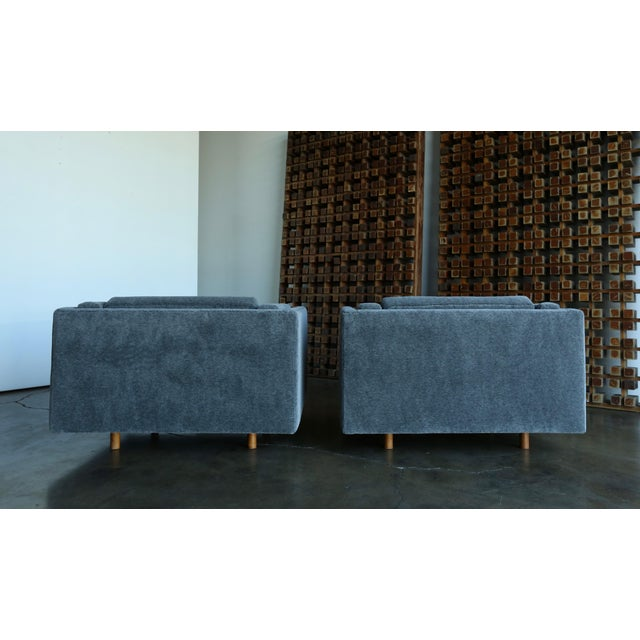 1960s Harvey Probber Grey Mohair Lounge Chairs - a Pair For Sale - Image 10 of 13