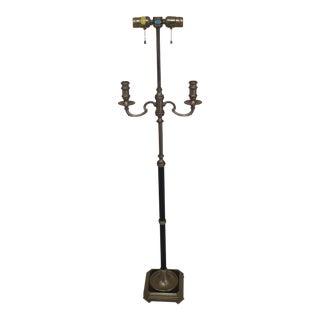 1970s Chapman Candelabra Brass Floor Lamp Parts For Sale