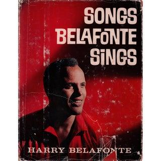 "1962 ""Songs Belafonte Sings"" Coffee Table Book For Sale"