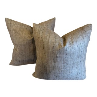 Modern Armani Casa Dothan Fabric Pillows- A Pair For Sale