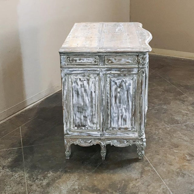 French 19th Century French Regence Whitewashed Commode For Sale - Image 3 of 13