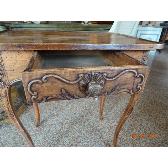 French Louis XV Epoch Side Table For Sale - Image 3 of 11