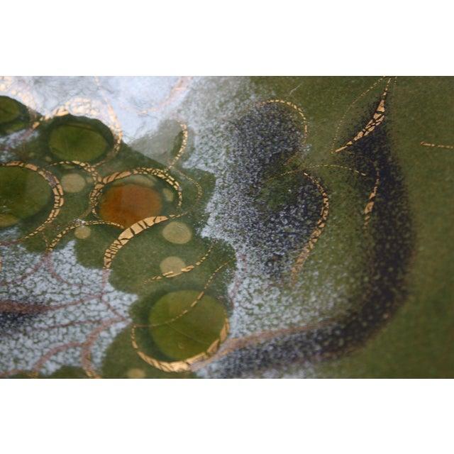 Sascha Brastoff 'Grapes on Vine' Enamel on Copper Charger For Sale - Image 9 of 13