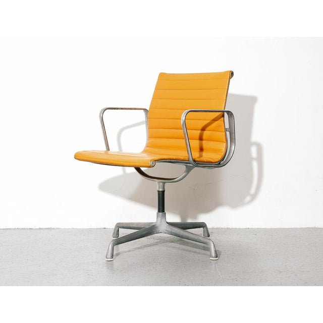 Vintage Eames Aluminum Group Chair in Orange For Sale - Image 11 of 11