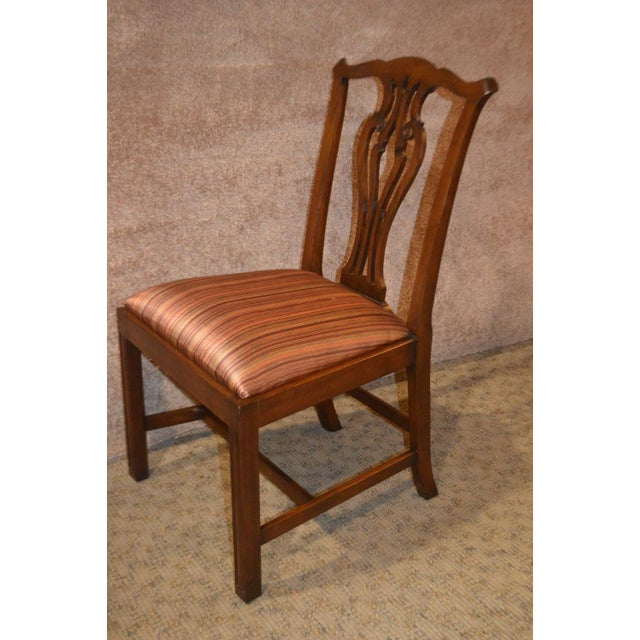 Chippendale Vintage Ardley Hall Mahogany Chippendale Style Chairs - Set of 8 For Sale - Image 3 of 13