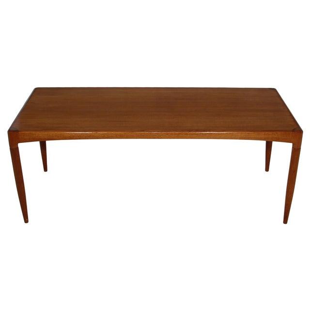 Wood Mid Century Danish Teak Coffee Table For Sale - Image 7 of 7