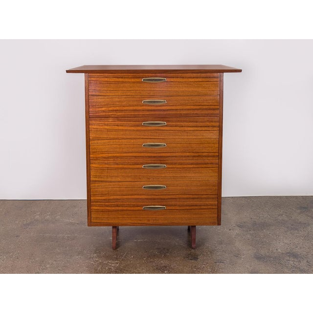 Rare example of the George Nakashima Origins oversized Tall Dresser for Widdicomb. Condition is excellent. Wood is...