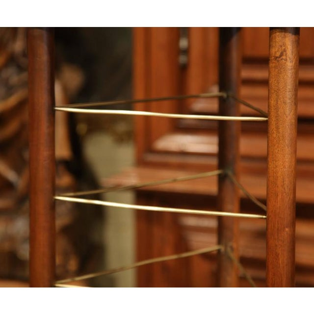 19th Century French Louis Philippe Walnut Plate Rack For Sale - Image 9 of 9